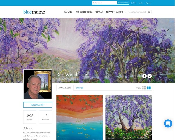 BLUETHUMB ONLINE GALLERY  Rex Woodmore