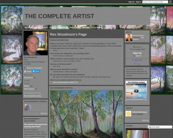 THE COMPLETE ARTIST Rex Woodmore