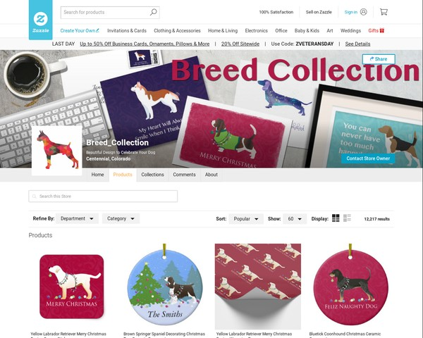 Zazzle • Breed Collection